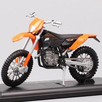 Maisto-Mini vehículos de carreras KTM 450 EXC, escala 1:18, juguetes en miniatura moldeados a presión, miniaturas de carreras, colectores de hobby