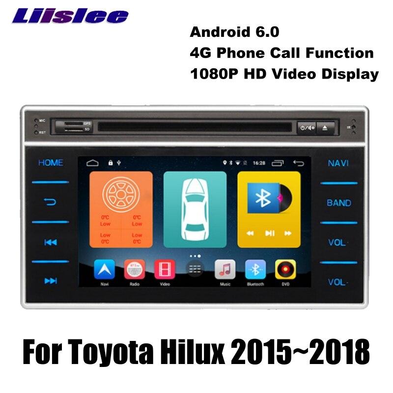 For Toyota Hilux AN120 AN130 2015~2018 LiisLee Car Multimedia TV DVD Palyer BT Wifi GPS Audio Hi-Fi Radio Stereo Navigation NAVI цена