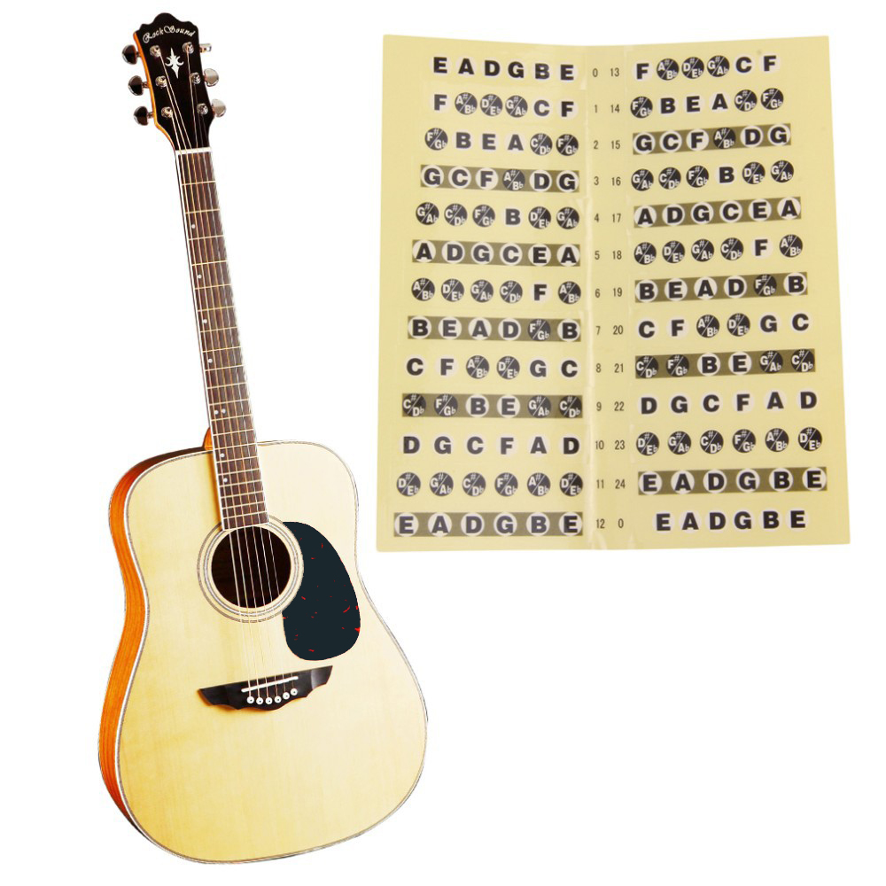acoustic electric guitar fretboard note music sticker for sale decal neck fret sticker on. Black Bedroom Furniture Sets. Home Design Ideas
