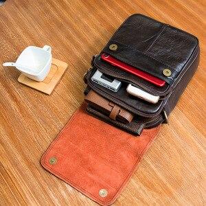 Image 4 - Original Leather Male Fashion Casual Tote Messenger bag Design Satchel Crossbody One Shoulder bag Tablet Pouch For Men 144