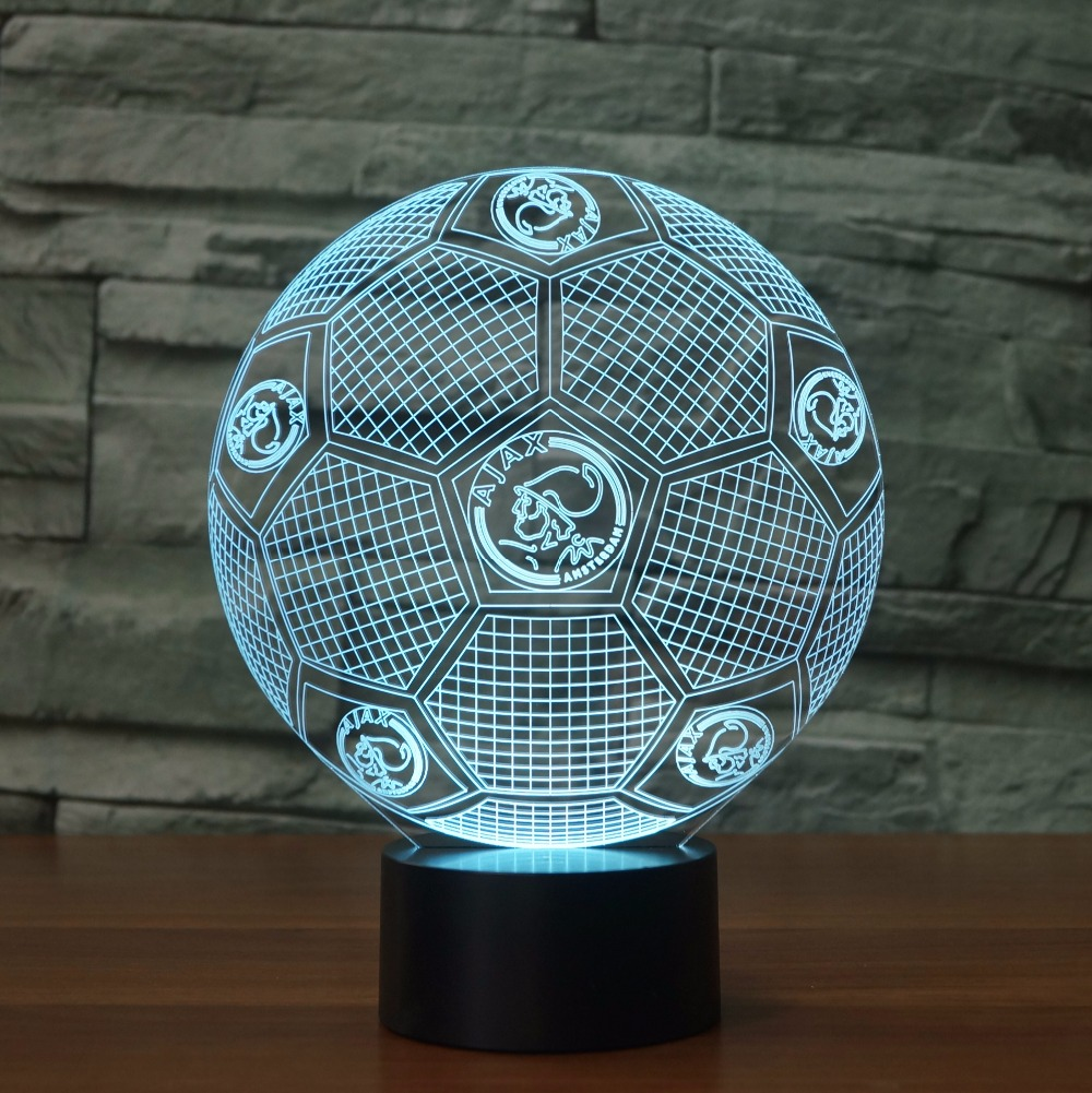 Wonderlijk AFC Ajax 3D Illusion Lamp Led Football Shape OY-07