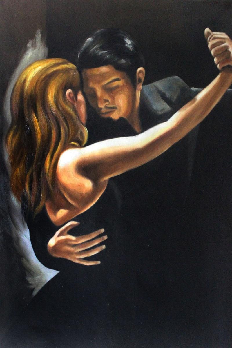 Museum Quality Tango Painting Tango Ii By Mark Bennett -3941