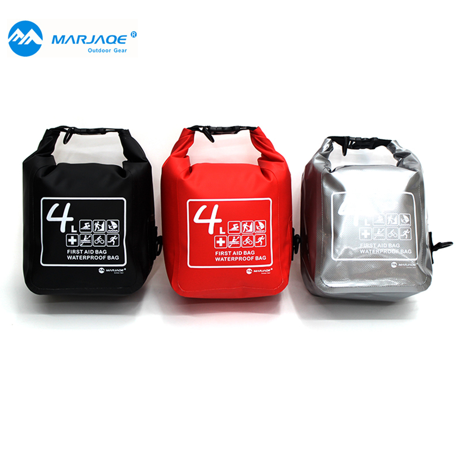 MARJAQE Outdoor Medical First-aid kit 4L Shoulder Waterproof Bag Mini Emergency Waterproof Bags Travel