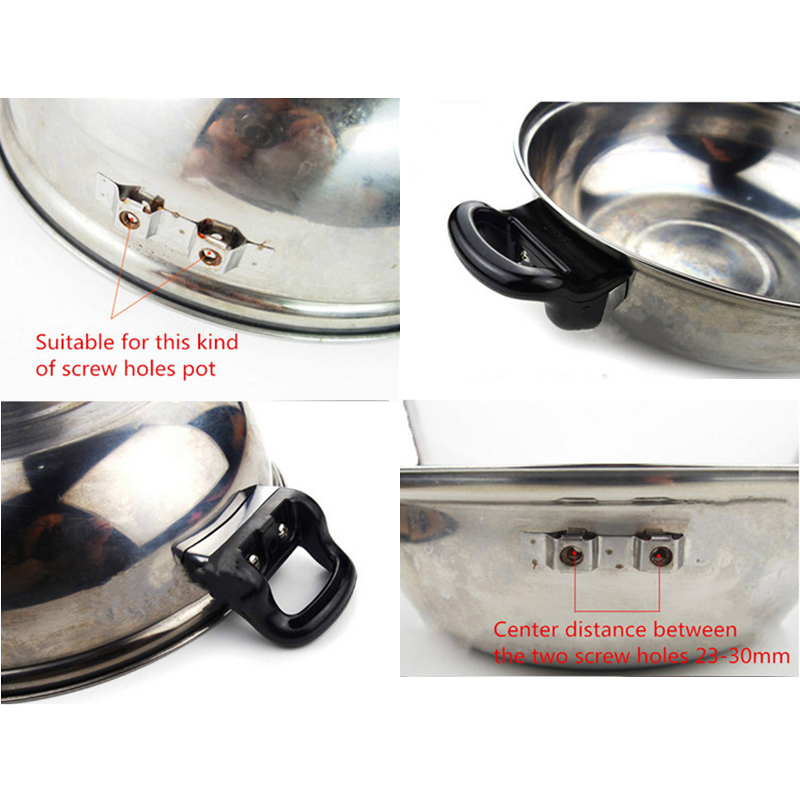 2Pcs Metal Pressure Pan Handles High Quality Cooker Steamer Sauce Pot Replacement Short Side Handle DIY Home Tools