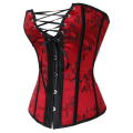 Sexy Red Waist Trainer Corsets and Bustiers Lace Up Corset Top For Wedding Dress Plus Size Lingerie Overbust Underwear