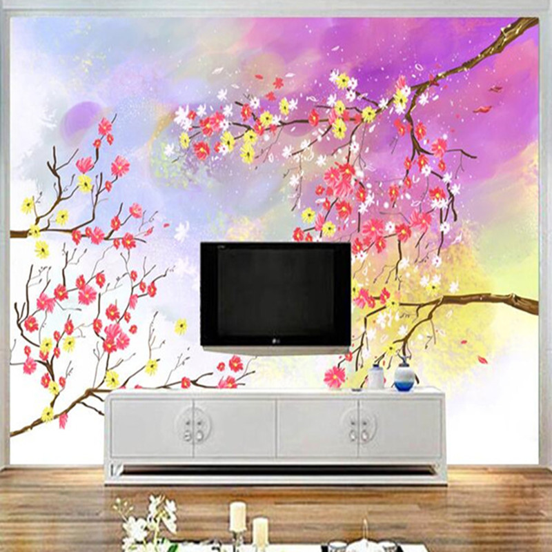 3D Wall Paper for Walls Beautiful Hand Painted Non-Woven Wallpapers Floral Watercolor Mural Living Room Decorative Wallpapers 3d floral wallpapers non woven bedroom wall paper roll living room wallpaper for walls modern 3d wallpaper mural wallcovering