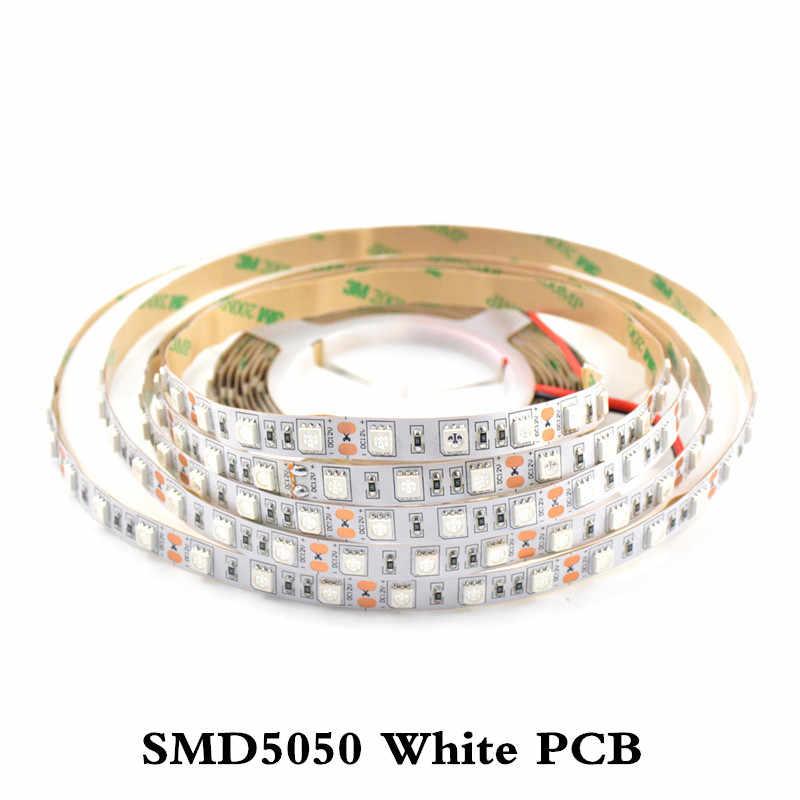 УФ светодиодный полосы света Невидимый 395-400nm AC/DC 12 V 5050 SMD 60 светодиодный s/m IP30 водонепроницаемый ультрафиолетовым излучением светодиодный rgb гибкая лента лампа