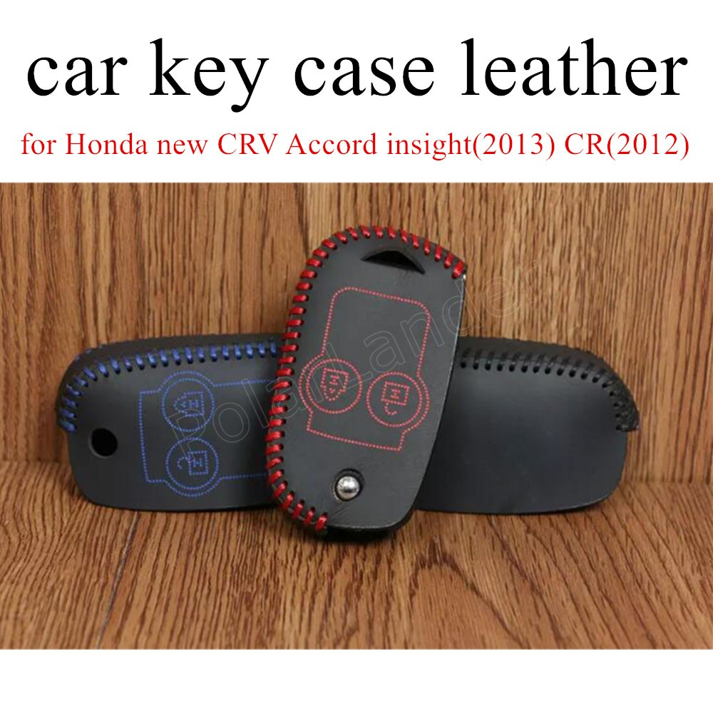 Only Red for Honda 2 button new CRV Accord insight(2013) CR(2012) Car key case hand sewi ...