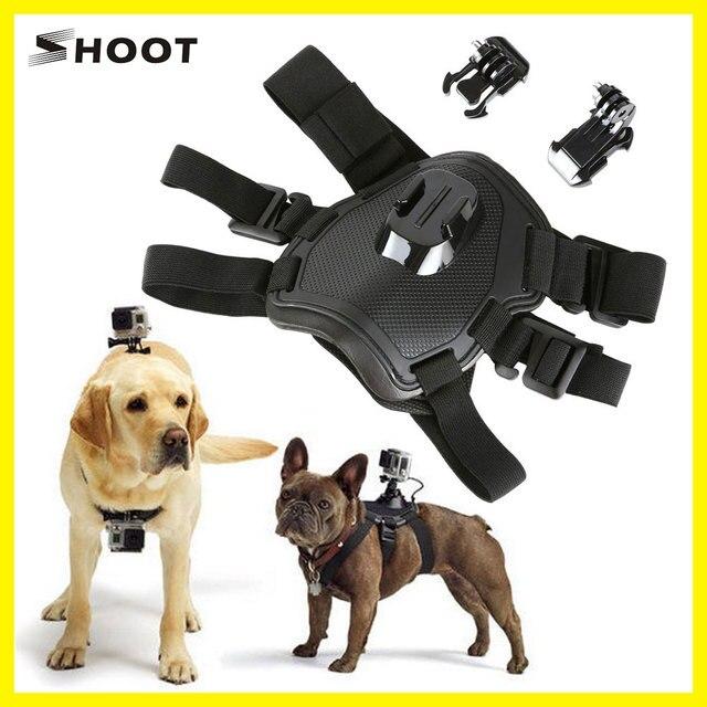 SCHIETEN Hond Fetch Harnas Borstband Schouderriem Mount Voor GoPro Hero 6 5 4 3 2 voor SJ4000 Actie Camera