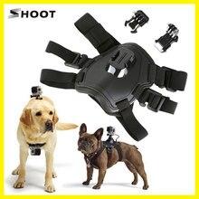 슈팅 개 가져 오기 하네스 가슴 스트랩 어깨 벨트 마운트 gopro 영웅 6 5 4 3 2 sj4000 액션 카메라