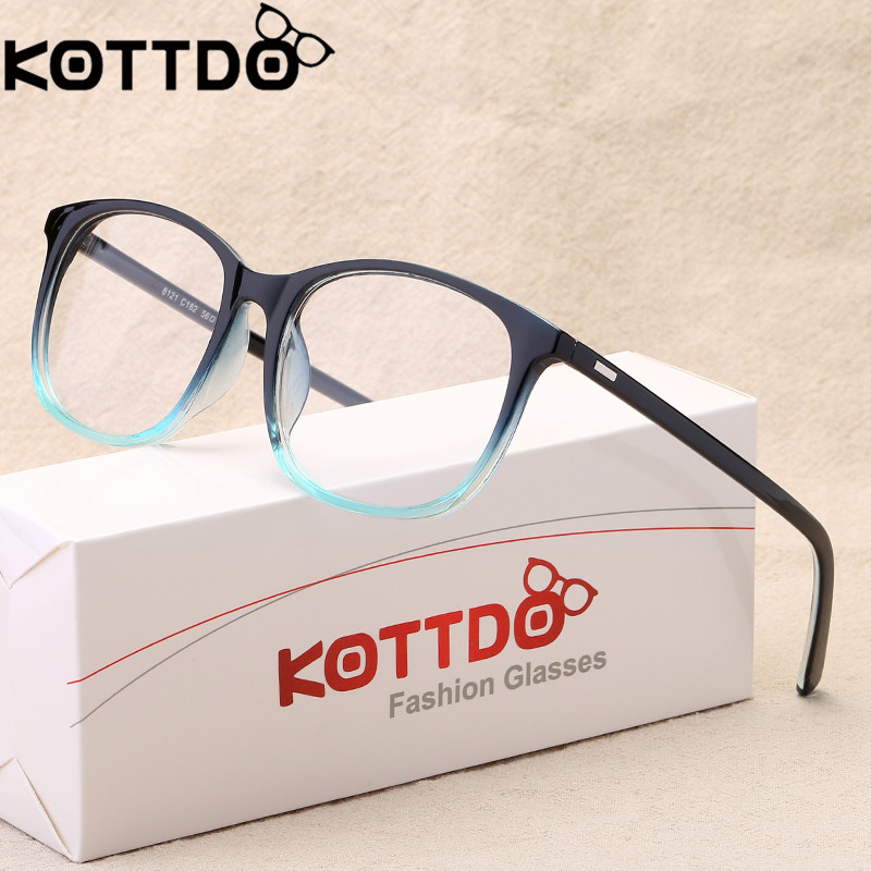 KOTTDO 2018 Kvinnor Retro Myopi Eyeglasses Frame Kvinna Ögonglasögon Vintage Optiska Glasögon Prescription Transparent Frame