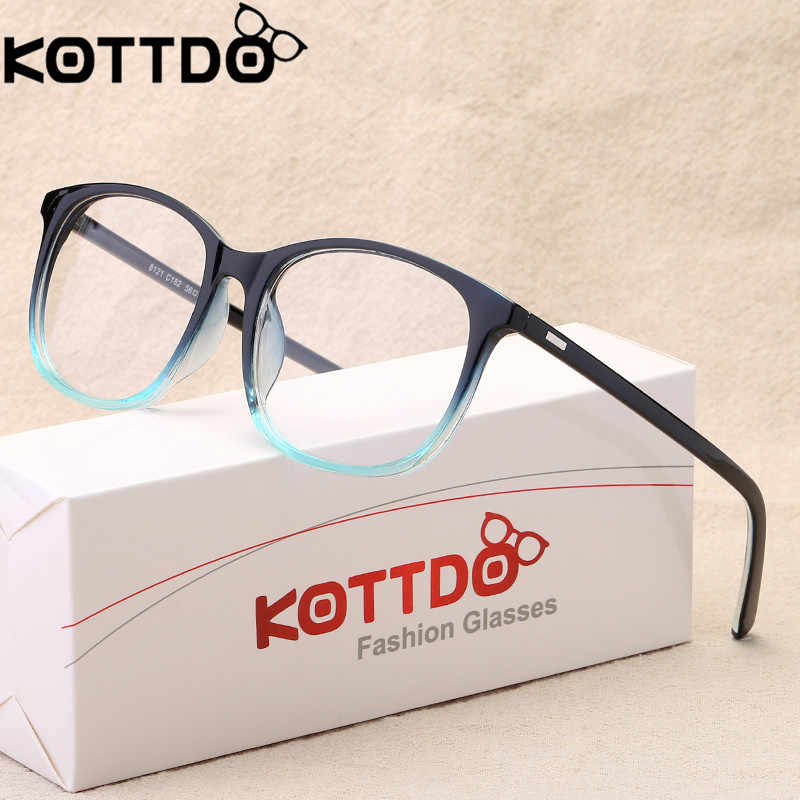 16a5ebaa9da7 KOTTDO 2018 Women Retro Myopia Eyeglasses Frame Female Eye Glasses Vintage Optical  Glasses Prescription Transparent Frame