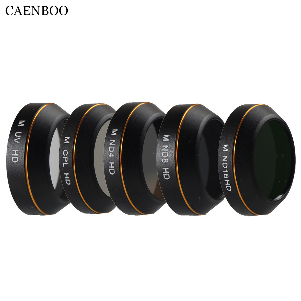 CAENBOO Lens Filter UV CPL Star Neutral Density ND 4 8 16 5in1 Filter Protector Drone For DJI Mavic Pro Professional Accessories
