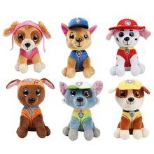 6 Pcs Paw Patrol Dog Plush Doll Toy and Stuffed Animal Anime Action Figure Model Chase Marshall Skey Toys for Children
