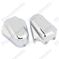 Chrome Motorcycle Bar Shield Rear Axle Covers Swingarm Cap For For Harley Softail Deluxe FLSTN FXSTB 2008 2009 2010 2011 2017
