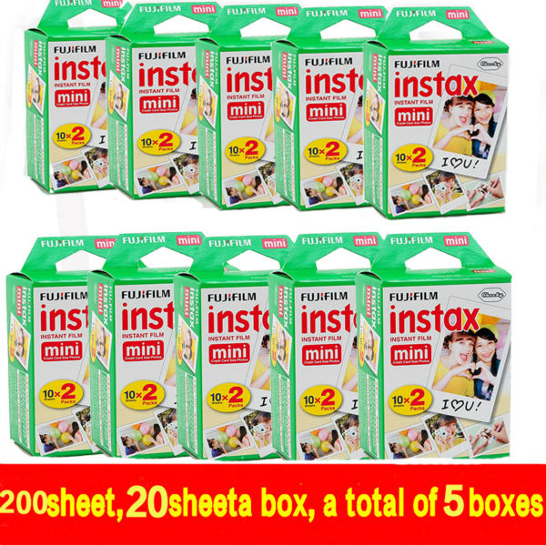 Genuine 200pcs Fuji Fujifilm Instax Mini 8 Film White Edge For 8 7s 50s 90 25