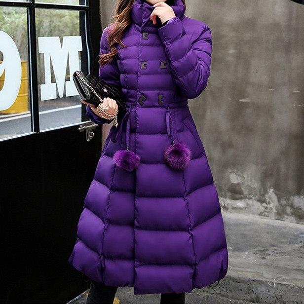 Manteau Noir Bal Robe Neige Femmes Vestes Cheveux A ligne Rembourré Long Mode Manteaux Robes Hiver De Puffer Ampoule 2018 pourpre Coton Slim rose 8xwq0RcH
