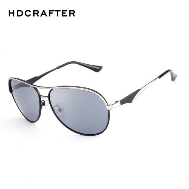 a26b3345a6c94 HDCRAFTER Men Polarized Sunglasses Original Brand HD Polaroid Reflective  Coating Driving Sunglasses Vintage Male Google Eyewear