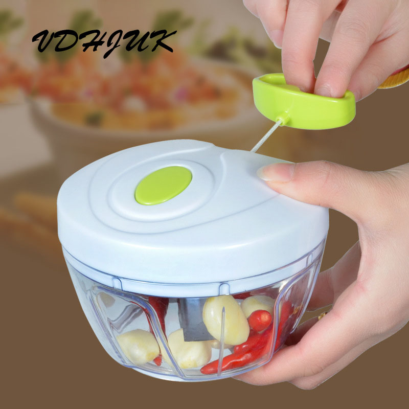 Drop shipping new High quality Chopper Garlic Cutter Vegetable Fruit Twist Shredder Manual Meat Grinder(China)