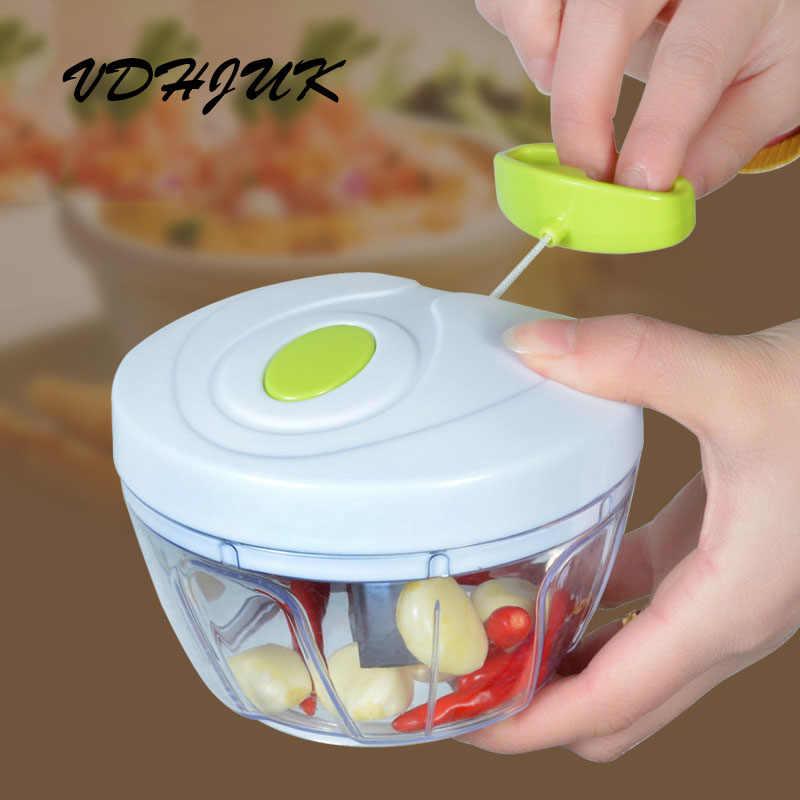 Transporte da gota nova Alta qualidade Cortador de Legumes Fruta Chopper Alho Torção Triturador Manual Do Moedor de Carne