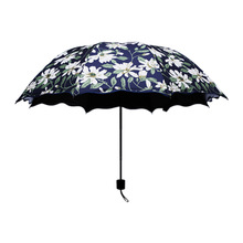 Folding umbrella Flower UV protection Sun Three-folding Umbrella fashion flower