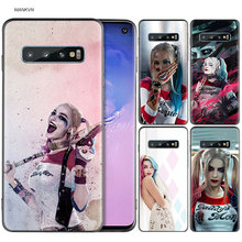 Suicide Squad Joker Harley Quinn Margot Robbie Kasus Silicone Hitam untuk Samsung Galaxy M20 S10e S10 S9 M10 S8 PLUS 5G S7 S6 Edge(China)