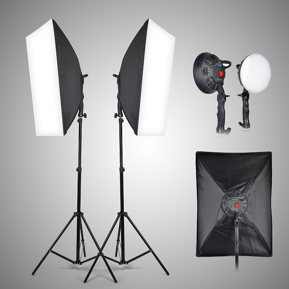 Led Video Light Kit 144 With Stands Soft Box Diffuser Set For Photography Carry Bag In Photographic Lighting From Consumer