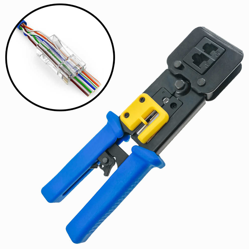 RJ11 RJ45 6P 8P Network Pliers Crimping Tool Multi-function Cable Cutter Piercing Crystal Head Crimping Dual-purpose Pliers