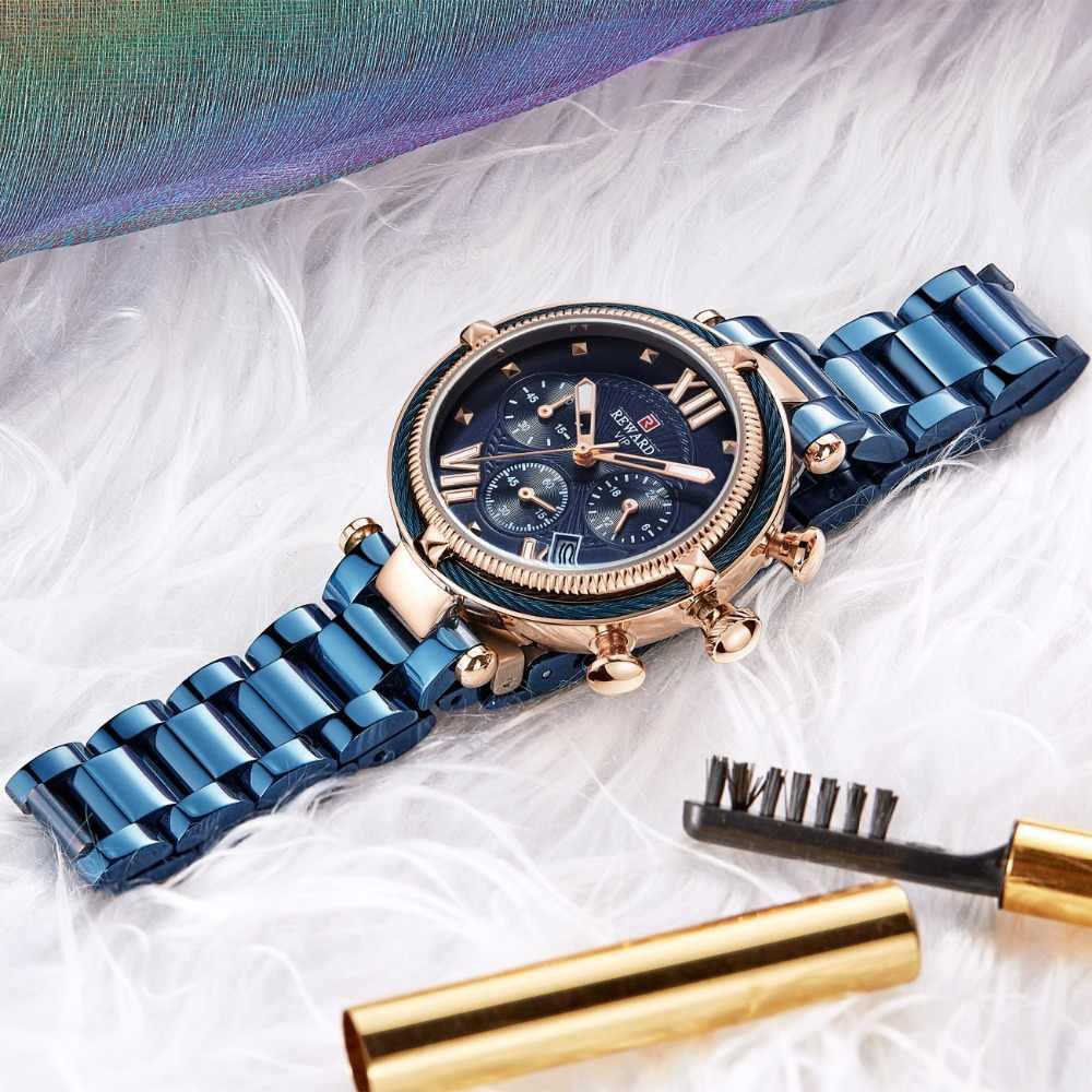 גמול למעלה מותג יוקרה נשים שעונים אופנה רצועת פלדת קוורץ שעון עבור Montre Femme 2020 גבירותיי שעון יד Relogio Feminino