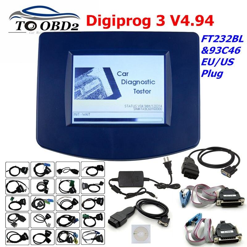 Digiprog3 Full set Digiprog 3 V4.94 Odometer programmer DigiprogIII Mileage