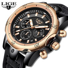 Erkek Kol Saati LIGE Watch Men Fashion Sports Quartz Mens Watches Top Brand Luxury Military waterproof Watch Relogio Masculino fashion erkek saat quartz watch bayan kol saati fashion casual leather three movements mens watches top brand luxury relogio box