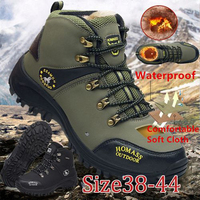 Fall Winter Mens Shoes Casual Platform Sneakers Boots Mens Shoes Hiking Non slip Outdoor Off road Movement Mountaineering