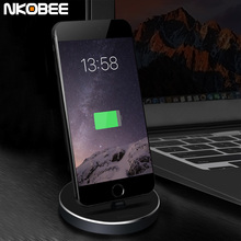 NKOBEE For iPhone 7 Charger Dock Aluminum Charger Dock Desktop Charging Cradle Station Adapter For Apple iPhone 5 5S 6 6S Plus 7
