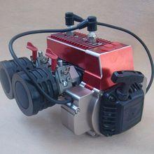 60CC газ 2 цилиндра двигатель может для KM HPI Baja Losi 5ive-T DBXL 5ive-B RC