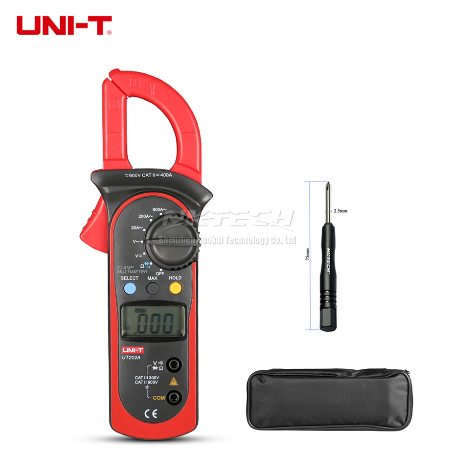 UNI-T Digital Clamp Meter Multimeter UT202A UT202 UT201 AC DC Volt 600 v AC Strom 600A Widerstand Diode Kontinuität Summer test