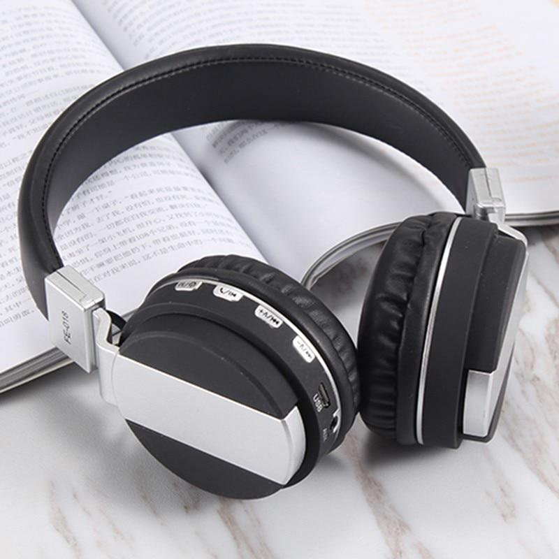 Bluetooth 4.2 with FM SD Card Readable Music Wireless Headphone Foldable Stylish Earphone