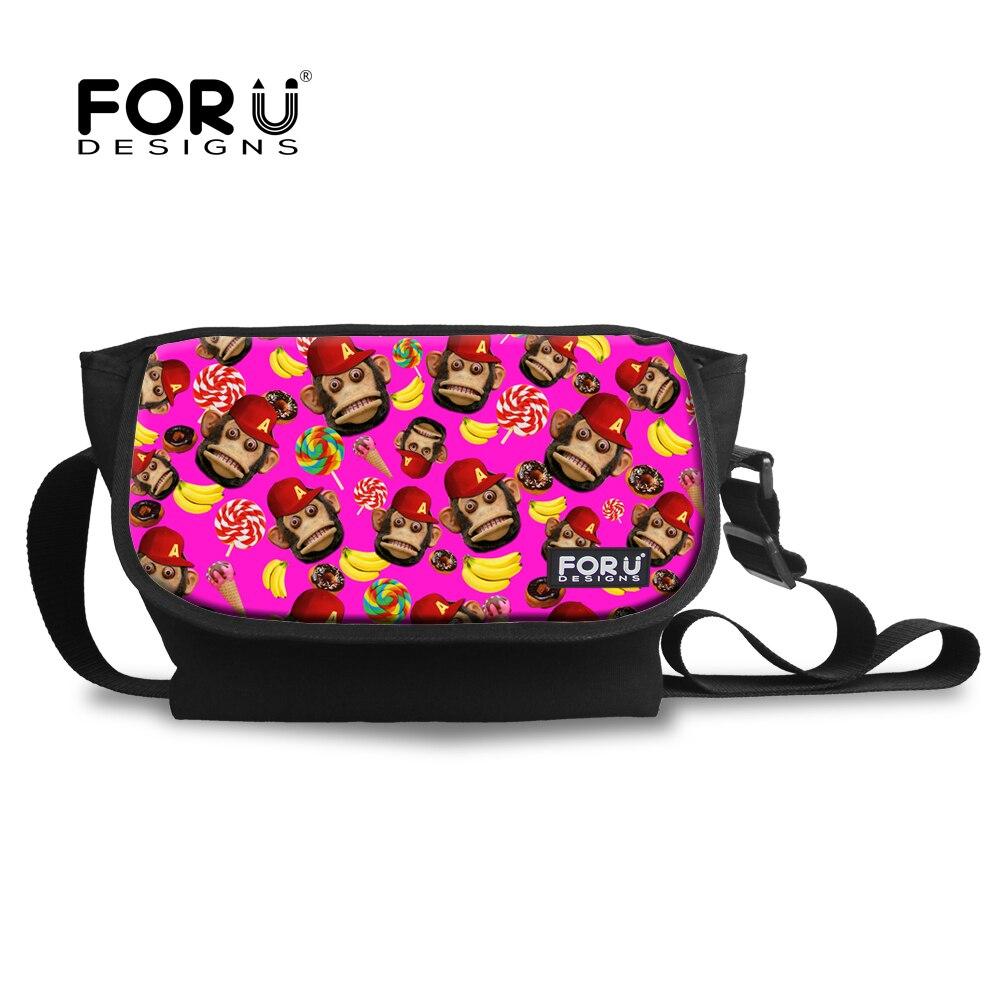 e1c6c1420 Marca Designer Saco Mensageiro Animal para Adolescente Meninas Macaco  Bonito Impresso Crianças Casuais Corpo Cruz Bag Ladies Mulheres Bolsos Mujer