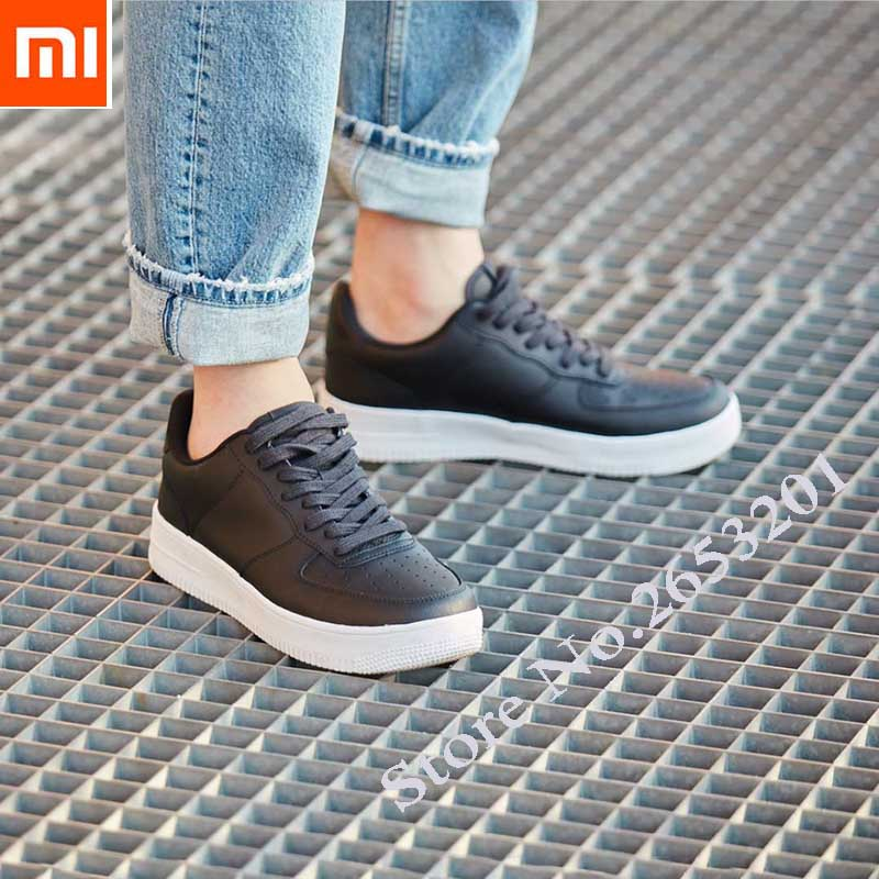 New Xiaomi 90 Points Retro Genuine Leather Shoes Fashionable Comfortable Cowhide Upper Non slip Wear Resistant