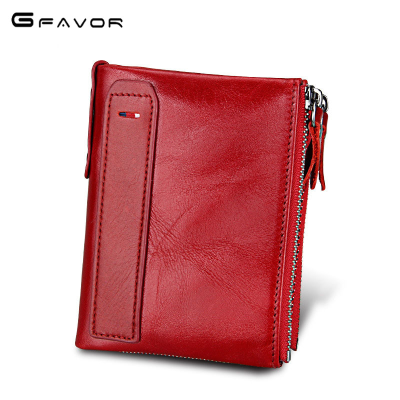 G-FAVOR Brand Vintage Small Women Wallets Female Genuine Leather Womens Wallet Zipper Design With Coin Purse Pockets Mini Wallet