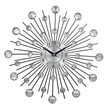 13-inch silver crystal sunburst metal wall clock original vintage metal home decoration clock gibson 2018 sj 200 vs vintage sunburst
