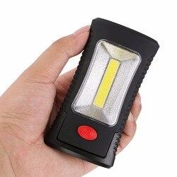 COB LED Taschenlampe Magnetische Taschenlampe Arbeits Inspektion Licht Klapp Haken Zelt Lampe Taschenlampe Tragbare Lanterna Linterna Lampe AAA