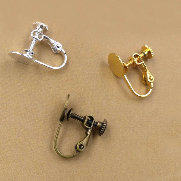 Screw Clip Earring Converter For Non Pierced Ears With 8mm Flat