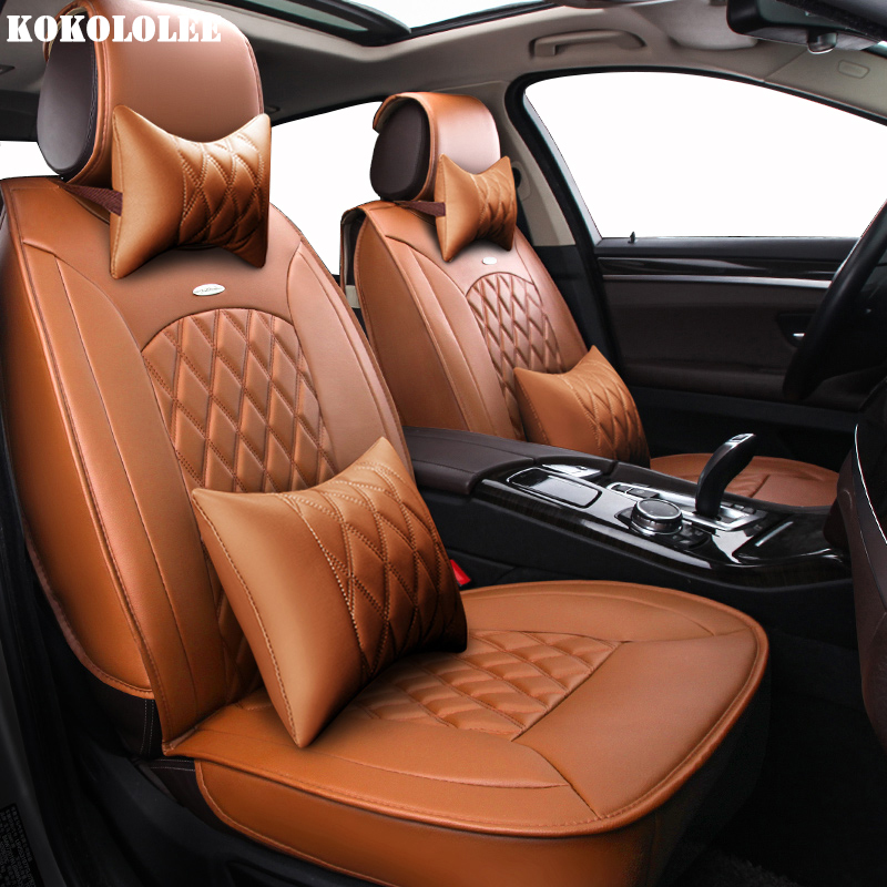 KOKOLOLEE pu leather car seat cover For Chrysler 300C PT Cruiser Grand Voyager Sebring car styling auto accessories car Stickers kokololee flax car seat covers for chrysler 300c pt cruiser grand voyager sebring car styling auto accessories car seats