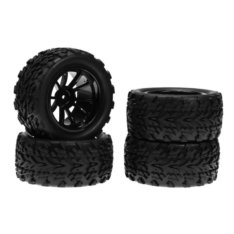 4pcs RC 1/10 Universal Vehicle Model Rubber Tyre Wheel for Monster Truck Accessory Hsp Redcat Remote Control Toys