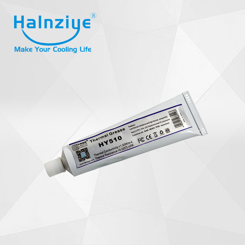 Free shipping HY510 gray heat sink thermal paste grease compound with CE&RoHS certification soft tube 100g