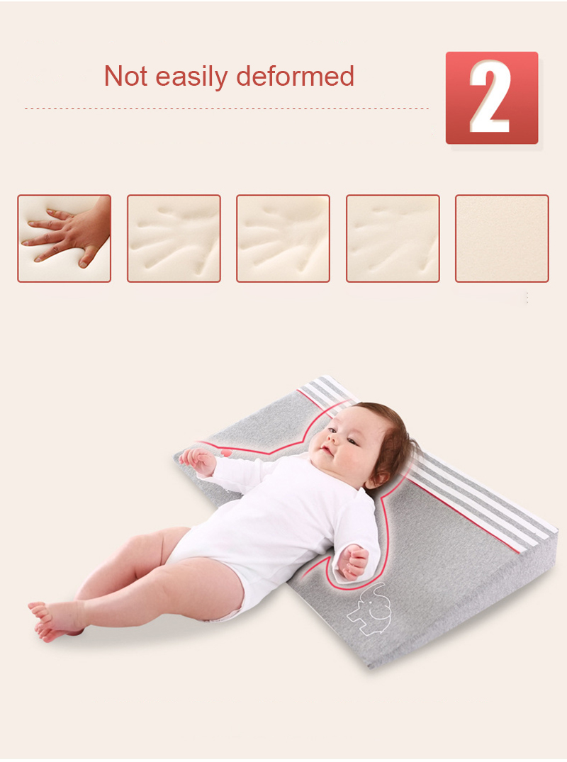 Anti Baby Spit Baby Wedge Pillow with 10 Degree Inclination for Baby Head Shaping 1