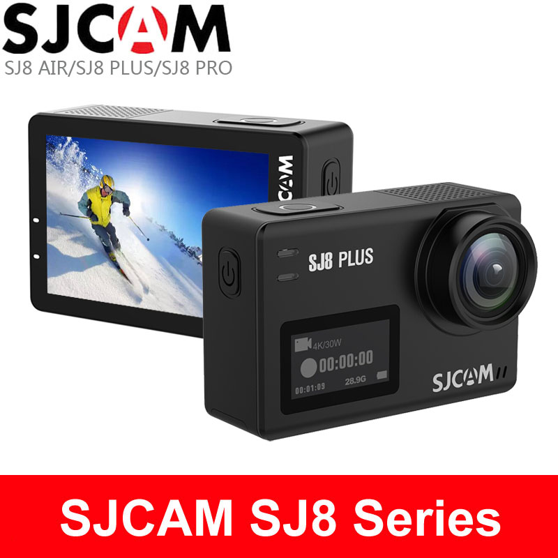 SJCAM SJ8 Air 1296P WiFi Sports Action Camera 2.33″ Retina Ips Display – Black Full Set Instant Camera(Black)