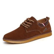 Vintage Lace Up Hombres Ocasionales de Los Planos Oxfords 2017 Mens de La Manera del Hombre de Cuero de Gamuza Plana zapatos Otoño Solos Zapatos de Skate