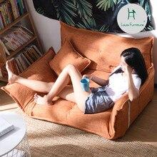 Louis Fashion de frijoles, sofás pequeños y perezosos, dormitorio individual, Tatami pequeño plegable para chicas, sala de estar