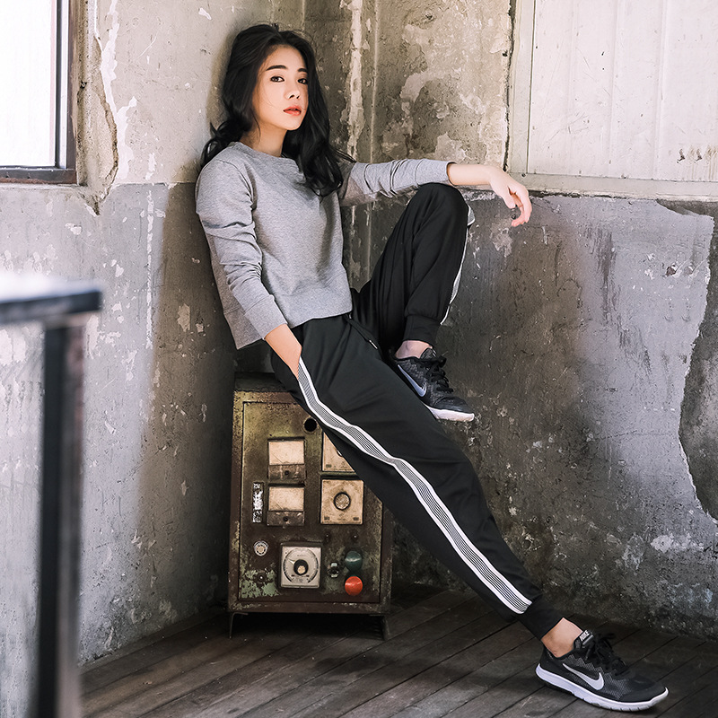 2018 New Casual Women's Sets Pants Running Sport Suits Workout Clothing Fitness Gym Tracksuit